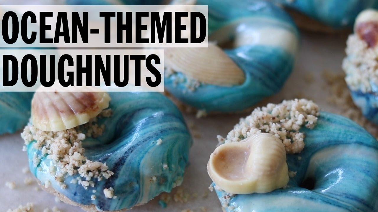 mesmerizing ocean themed doughnuts food network youtube