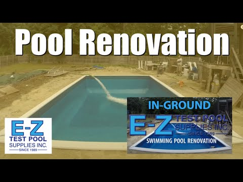In Ground Pool Renovation of Wood Frame Swimming Pool