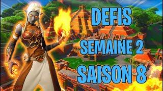 DEFIS SEMAINE 2 SAISON 8 - #FORTNITE - BATTLE ROYAL -