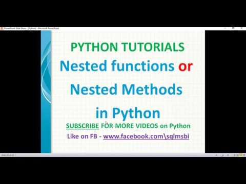 Python tutorial | Nested functions in Python | python nested methods thumbnail