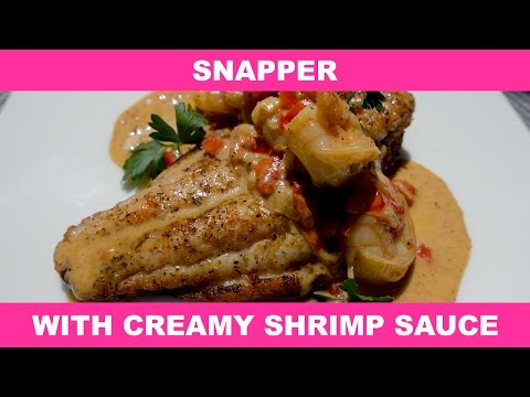 Snapper With Creamy Shrimp Sauce
