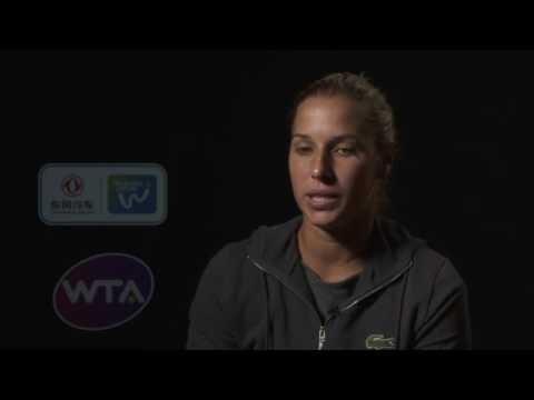 2016 Wuhan Semifinal Interview   Dominika Cibulkova
