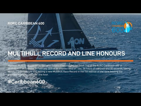 2019 RORC Caribbean 600 -  Multihull record and line honours