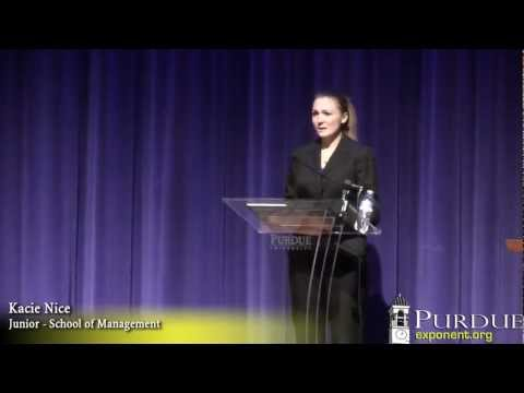 3/25/2013 Purdue Student Government Presidential Candidate Debate