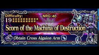 [FFBE] Scorn of the Machina of Destruction featuring King Rain!!! 15 TURNS ALL MISSIONS!!!