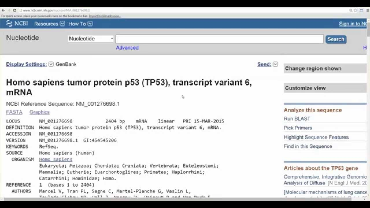 How to download and parse NCBI Nucleotide data - YouTube