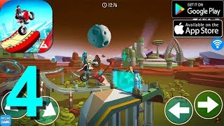 Gravity Rider: Space Bike Racing Game Online Walkthrough Part 4 / Android iOS Gameplay HD