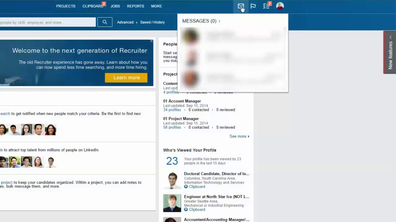 Viewing Sent Messages in the Recruiter Inbox | Recruiter Help