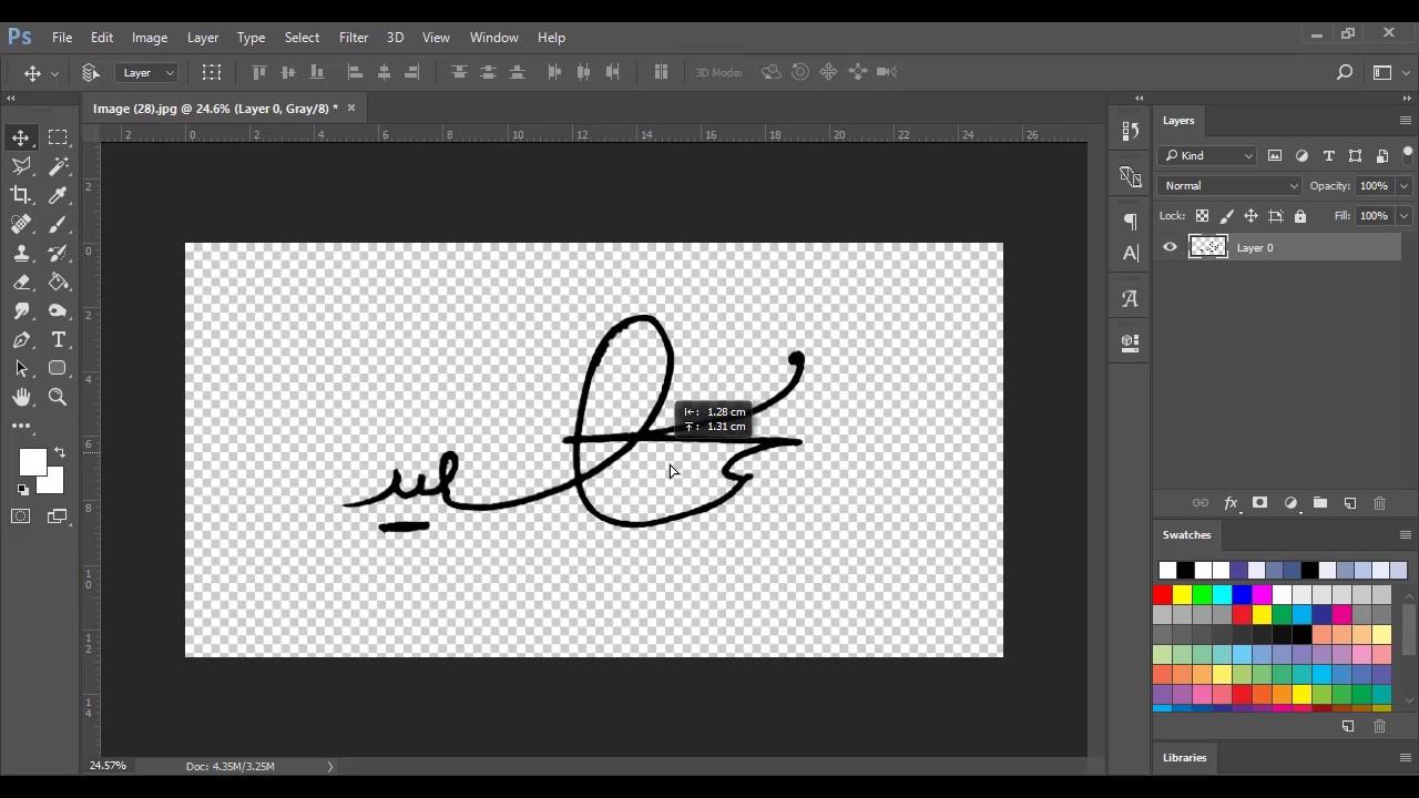 How To Make A Digital Signature With Photoshop طريقة عمل توقيع على الفوتوشوب Youtube