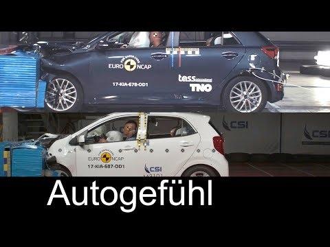 Kia Rio vs Kia Picanto crash test comparison