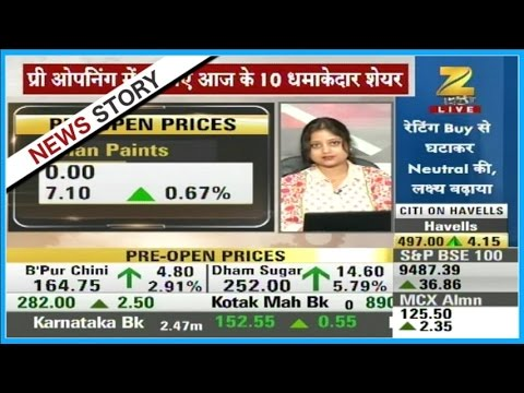 First Trade : Nifty 50 currently trades  at 9183 with 0.5% rise, Sensex at 29543