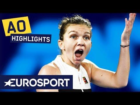 Simona Halep vs Sofia Kenin Highlights | Australian Open 2019 Round 2 | Eurosport