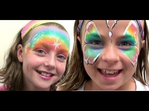 Fairy Floss Split Cake Face Paint Tutorial Youtube