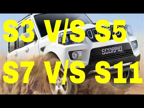 NEW SCORPIO 2017 DIFFERENCE BETWEEN S3 S5 S7 S11 FULL REVIEW PRICE INTERIOR EXTERIOR FEATURES