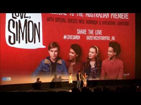 Love, Simon Australian Premiere - Nick Robinson & Katherine Langford