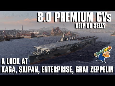 World of Warships Premium Carriers in the 8.0 Rework - Keep or Sell?