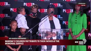 #BobMabena's children pay tribute to their father at the memorial service