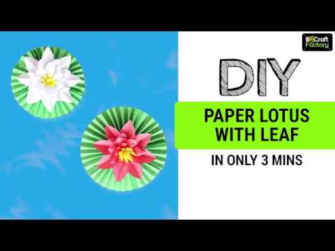 DIY Paper Lotus/Flowers| 3 minutes easy craft tutorial | lil-Craft Factory thumbnail