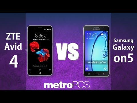 ZTE Avid 4 VS Samsung Galaxy on5 / metroPCS - YouTube