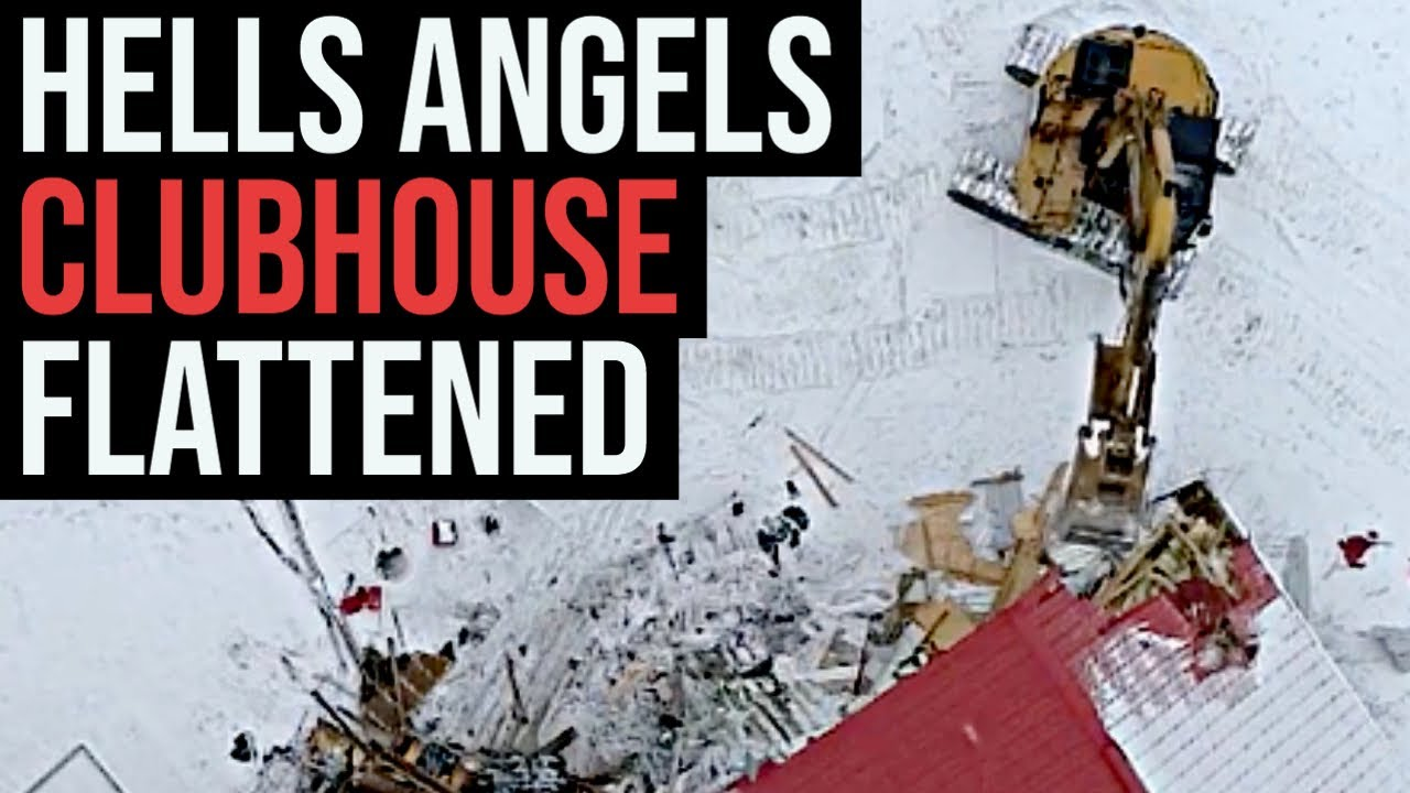 Hells Angels clubhouse demolished — Exclusive time lapse video