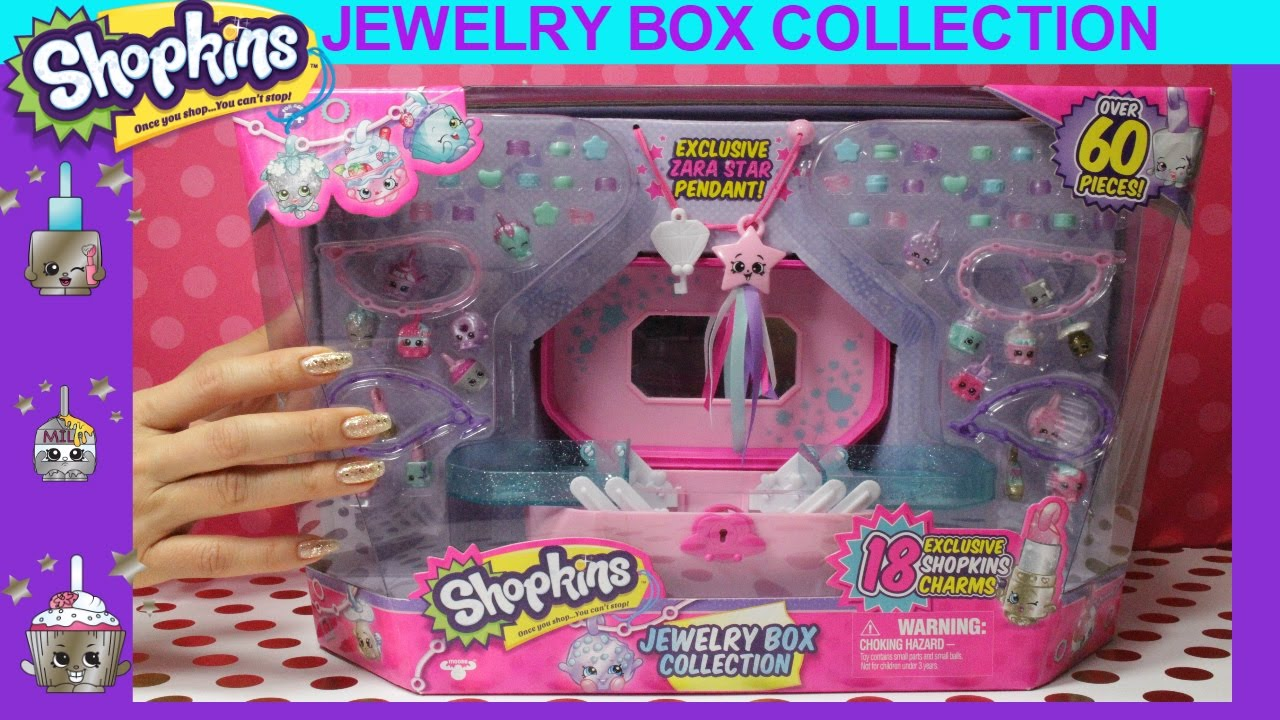NEW Shopkins Jewelry Box Collection with 18 Exclusives Zara Star