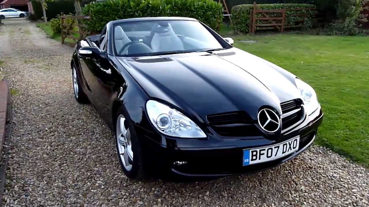 video review of 2007 mercedes slk 280 convertible for sale sdsc specialist cars cambridge youtube. Black Bedroom Furniture Sets. Home Design Ideas