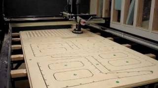 CNC plywood furniture timelapse SIUC