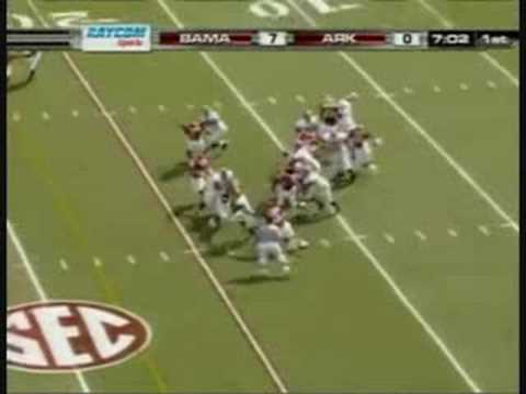 Glen Coffee 87 Yard Touchdown Vs Arkansas