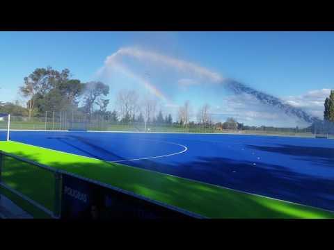 Waimakariri Hockey Turf - Water Jet Test