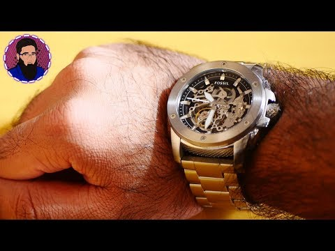 ⌚Fossil ME3081 Modern Machine Automatic Stainless Steel Watch Review & Unboxing!💥