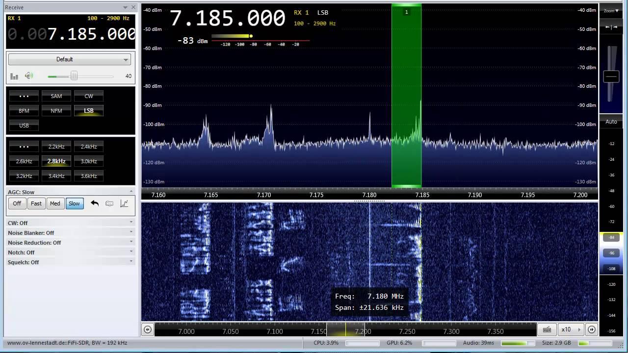 SDR Radio V3 0 - W1AEX by W1AEX