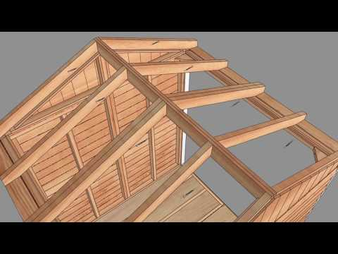 6x6 Maximizer Storage Shed with panelized cedar shingle roof option - Outdoor Living Today