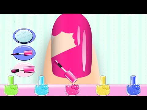 Baby Learn Colors With Hello Kitty, Play Nail Salon - Fun Game For Kids