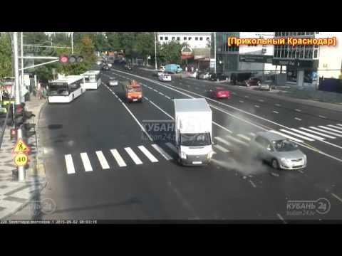 Подборка ДТП с камер ЕДДС #3. Краснодар