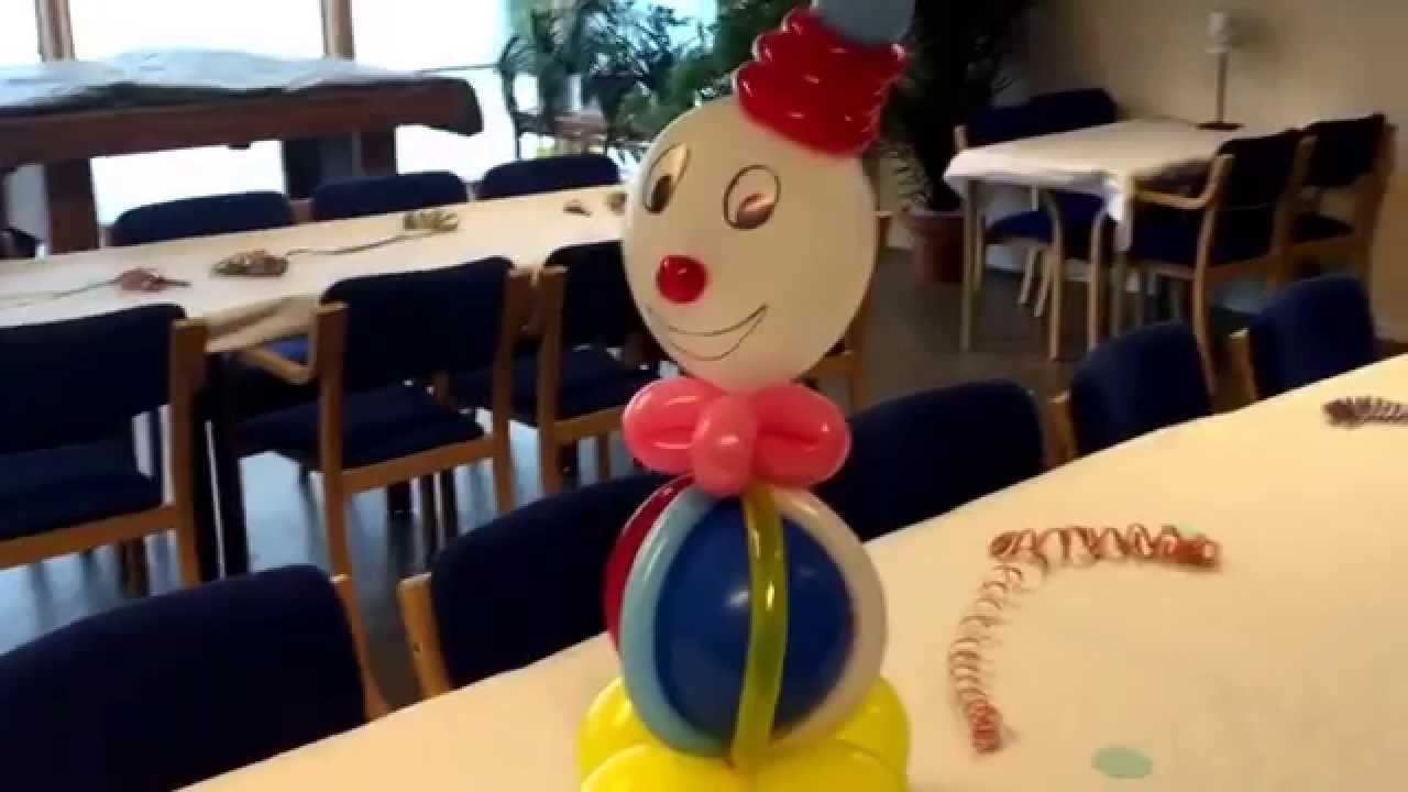Decoracion De Payaso En Globos Youtube