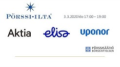 Pörssi-ilta Helsinki 3.3.: Aktia, Elisa, Uponor ja talouskatsaus