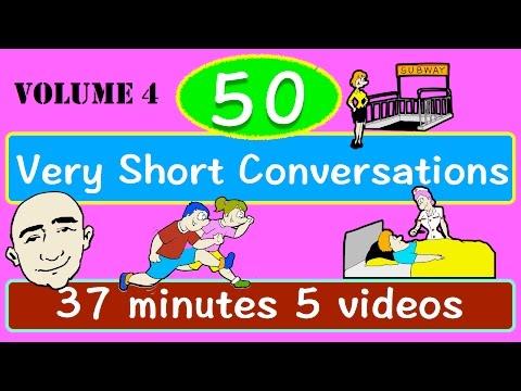 50 Very Short Conversations | Long Video | Volume 4 | English Speaking Practice | ESL | EFL | ELL