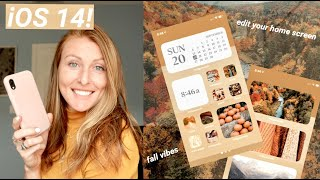 *iOS 14* HOME SCREEN CUSTOMIZATION // fall aesthetic (widgetsmith and shortcuts!) #iOS14