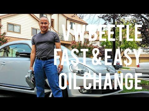 VW Beetle Oil Change. Is it Easy & Fast to Do a DIY Maintenance Oil Change on a Volkswagen car?