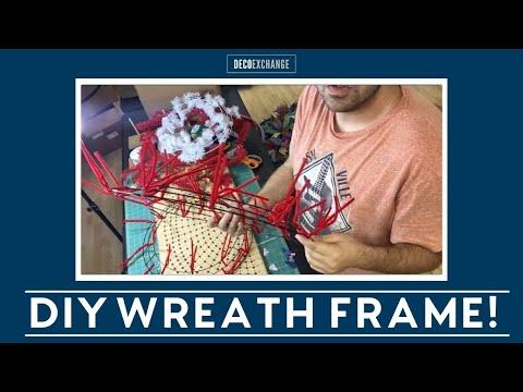 How to make your own wreath frame. DIY Wreath Frame
