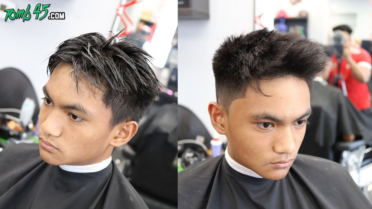 Textured Number 1 Fade On Stubborn Mens Hair Youtube