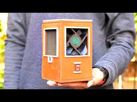 How To Make Powerful Air Cooler - Wooden Body [ DIY Tutorial ]