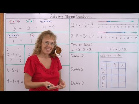 Fun Math for Children: Addition of Three Numbers