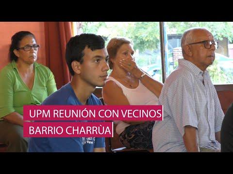 UPM reunión informativa con vecinos del Barrio Charrúa