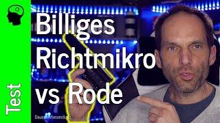 Lowbudget (Video) Richtmikrofon Takstar (SGC 598) gegen Rode VideoMic Pro.