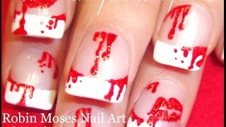 Nail Art | DIY Bloody Kisses Nail Design Tutorial! Red Lip Nails