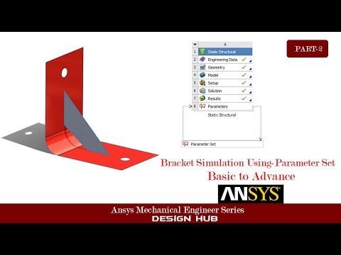 Bracket Simulation USing Ansys Parameter Simulation |ANSYS Tutorial|