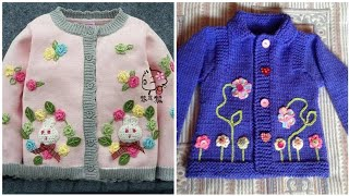 Stunning and elegant embroidery sweater designs for baby girl