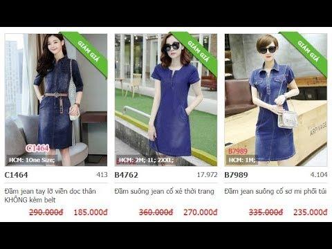 Tổng Hợp Các Mẫu đầm Váy Nữ Jean - Denim đẹp Giá Rẻ