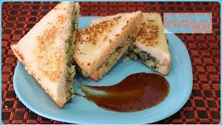 Potato & Spinach Sandwich - Quick Breakfast/ Snack Recipe/ బంగాళదుంప పాలకూర సాండ్విచ్